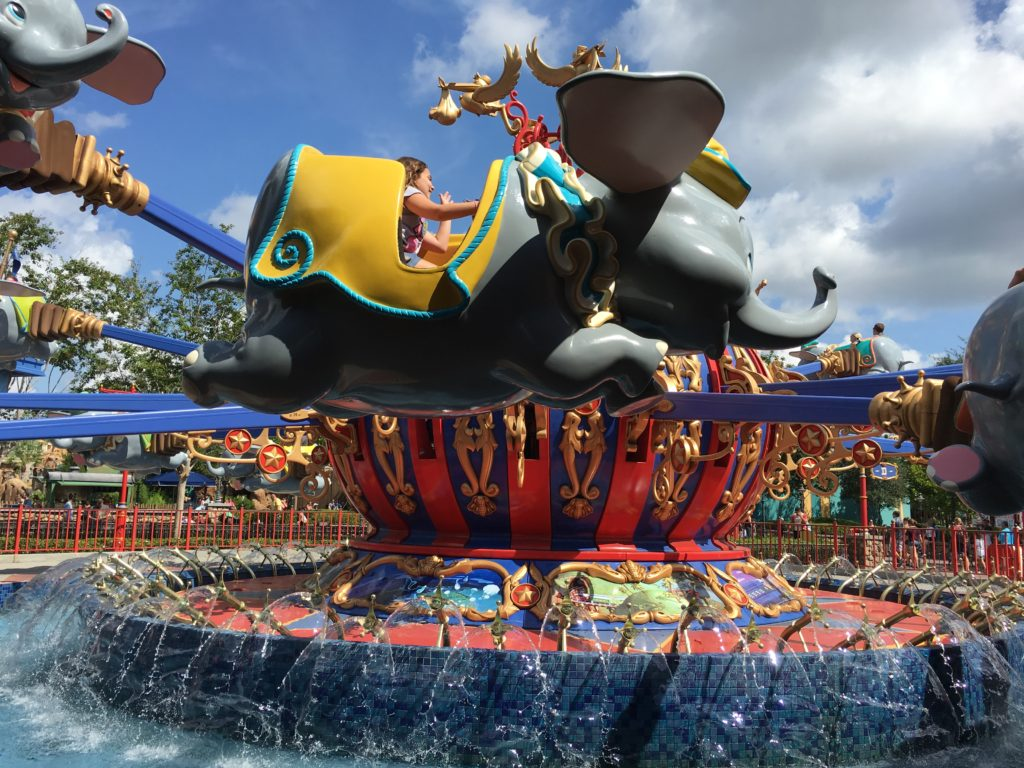 Dumbo attraction at the Magic Kingdom Park