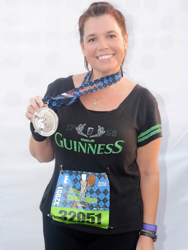RunDisney finisher and medal