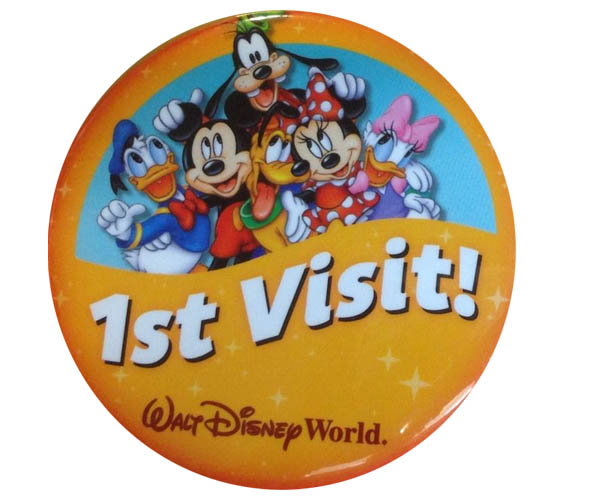 Walt Disney World First Visit Button