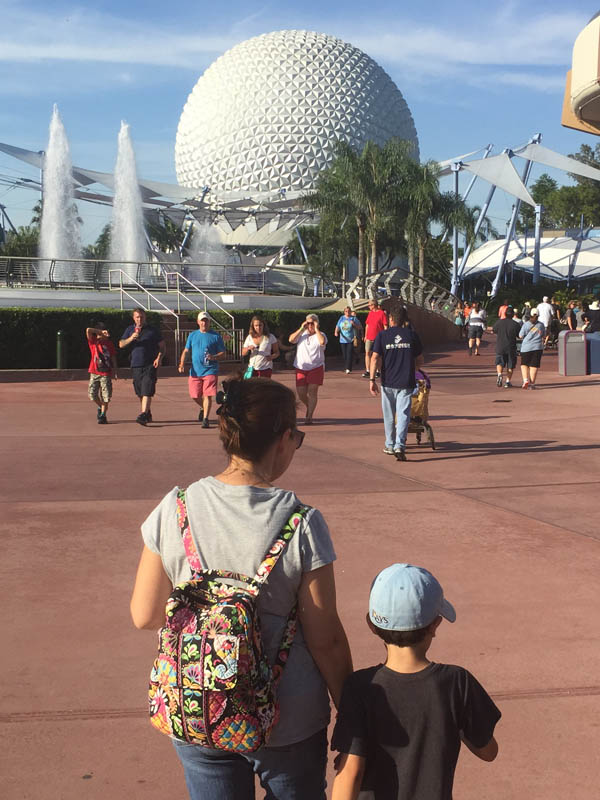 Spaceship Earth plaza at Epcot
